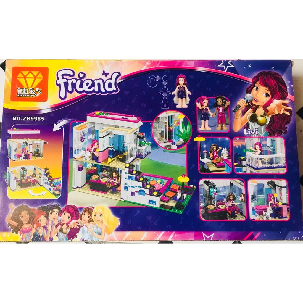 Bộ lego Friend biệt thự sang chảnh cho bạn gái (601 chi tiết)
