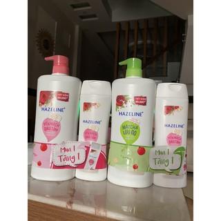 Sữa tắm Hazeline 900gr tặng khăn tắm cao cấp tặng chai sữa tắm 300ml thumbnail