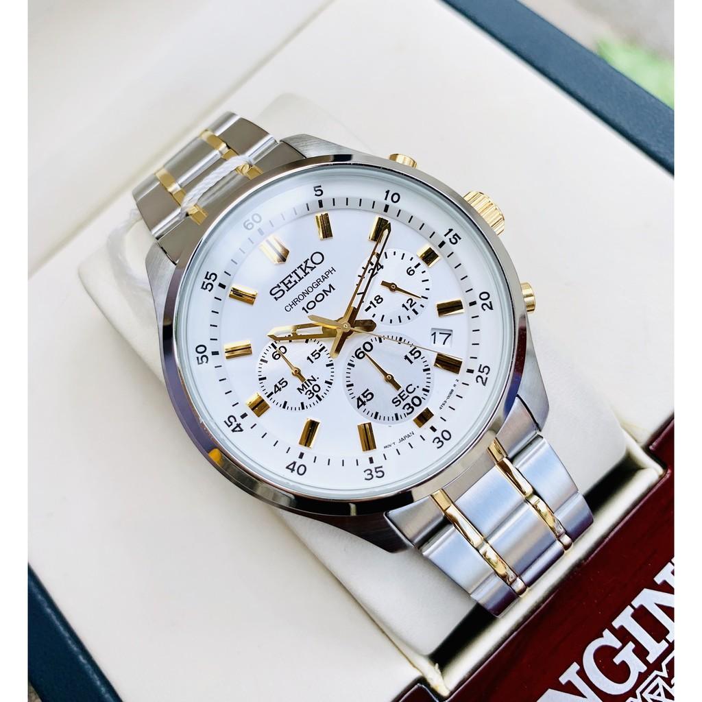 Đồng hồ nam Seiko Chronograph SKS589P1- Máy Quartz Pin - Kính cứng