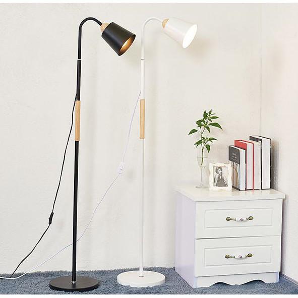 Đèn cây đứng trang trí phòng khách phong cách Bắc Âu - Tặng kèm bóng LED 12w
