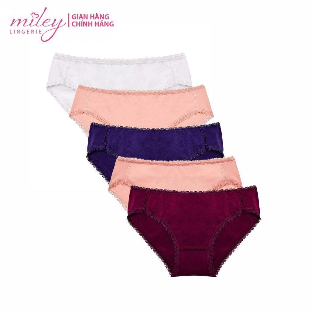 Bộ 5 quần lót nữ fashion cotton MILEY LINGERIE