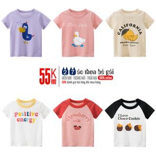 Áo thun bé gái 27HOME họa tiết đáng yêu cho bé chất cotton mềm mại
