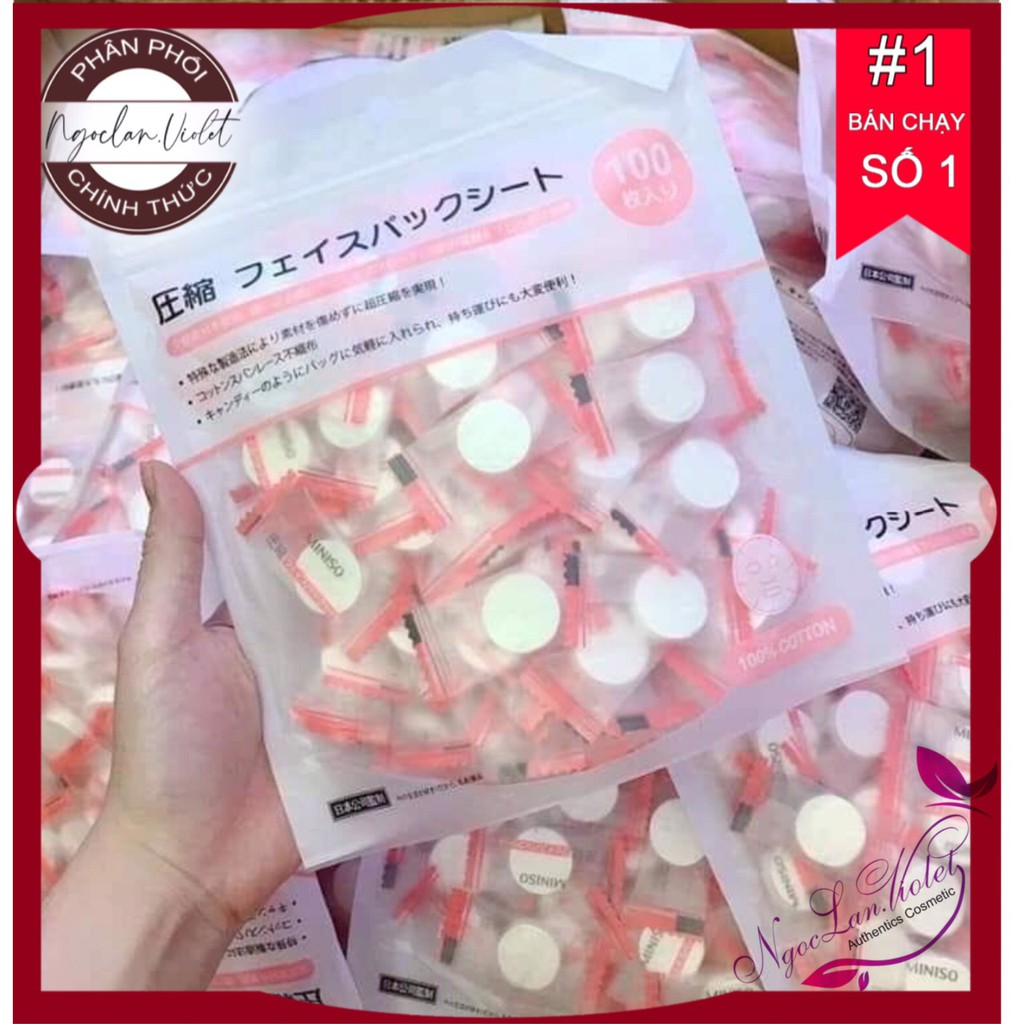[RẺ VÔ ĐỊCH] Mặt nạ miniso Nhật Bản 100 viên