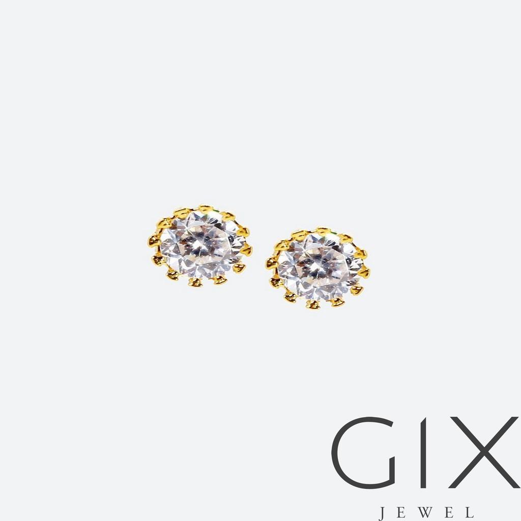 Bông tai kim cương nhân tạo 5 li