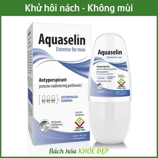 Aquaselin for men 50ml Lăn khử mùi không mùi cho nam - Dùng cho mọi loại da thumbnail