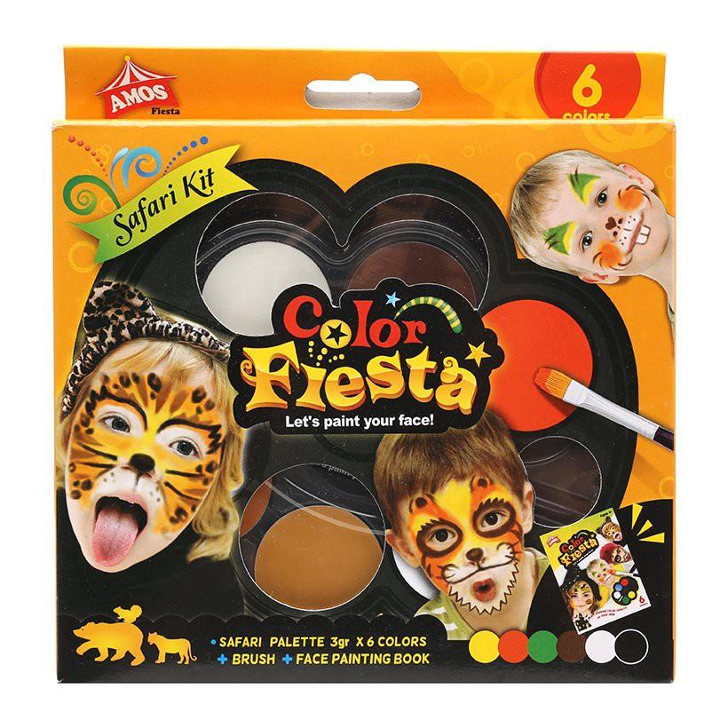 Màu vẽ mặt nạ dạng kem Amos Flesta – Hộp 6 màu (Hàn Quốc)