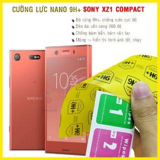 [Mã ELFLASH2 hoàn 10K xu đơn 20K] Kính cường lực dẻo nano mặt trước, mặt sau Sony XZ1 Compact
