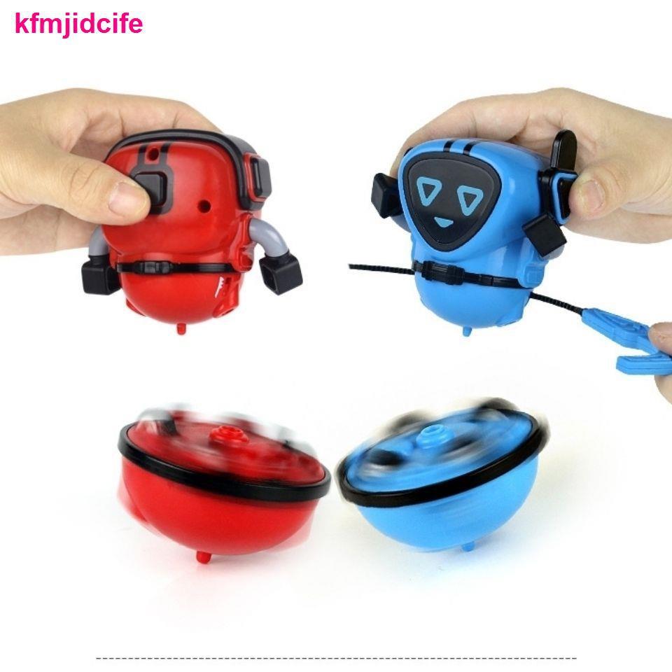 đồ sơ sinhBibi Elf 2 trong 1 trận chiến biến thành con quay hồi chuyển robot Xiaobao kéo dây quán tính xoay đồ chơi