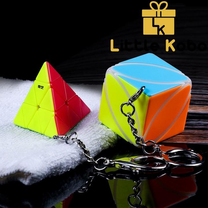 Móc Khóa Rubik QiYi Pyraminx Rubic Tam Giác Stickerless QiYi Cube