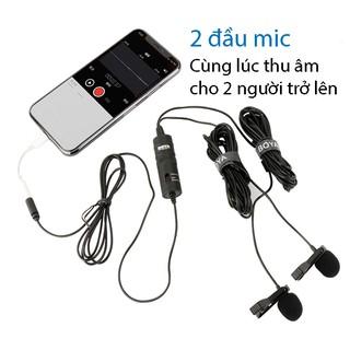 Micro BOYA BY M1DM 2 Mic Thu Âm Cho 2 Người - chính hãng