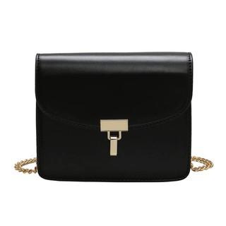 Túi đeo chéo nữ thời trang T70 19x17x7cm (Đen-Nâu-Xanh-Kem)