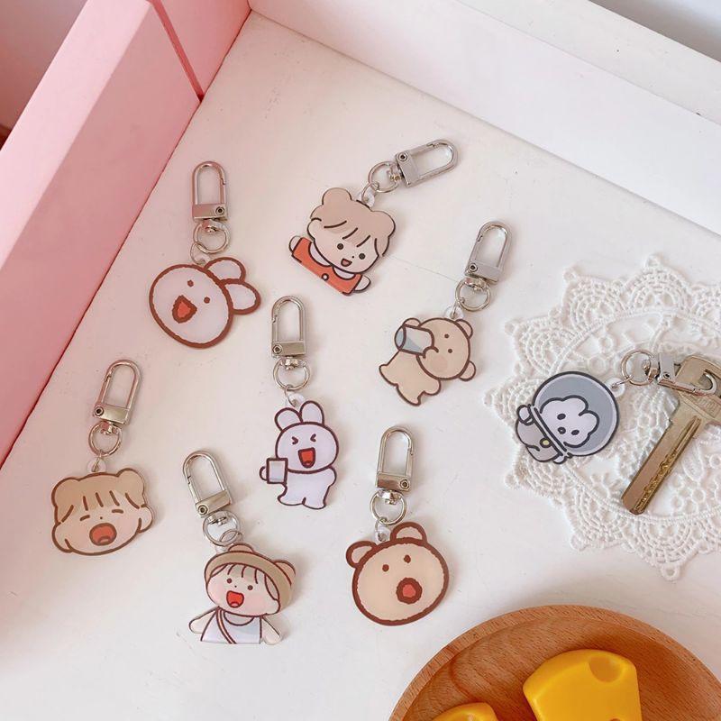 Móc Khóa Acrylic, Keychain Cài Airpod Hoạt Hình Xinh Xắn Hàn Quốc BiTi MK443