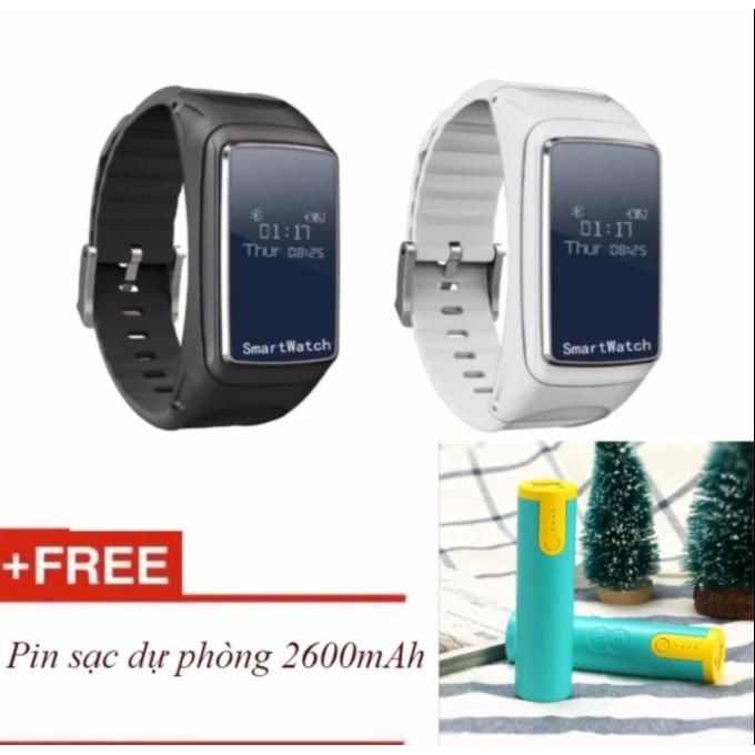 Đồng hồ thông minh kiêm tay nghe bluetooth B2 + tặng Pin sạc 2600mAh