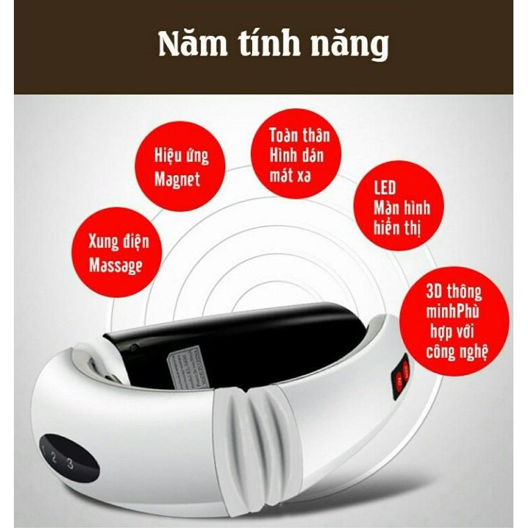 [Hàng Xịn] Máy Massage cổ vai gáy bằng xung điện 3D WEIPINLU máy mát xa giảm đau mỏi hiệu quả