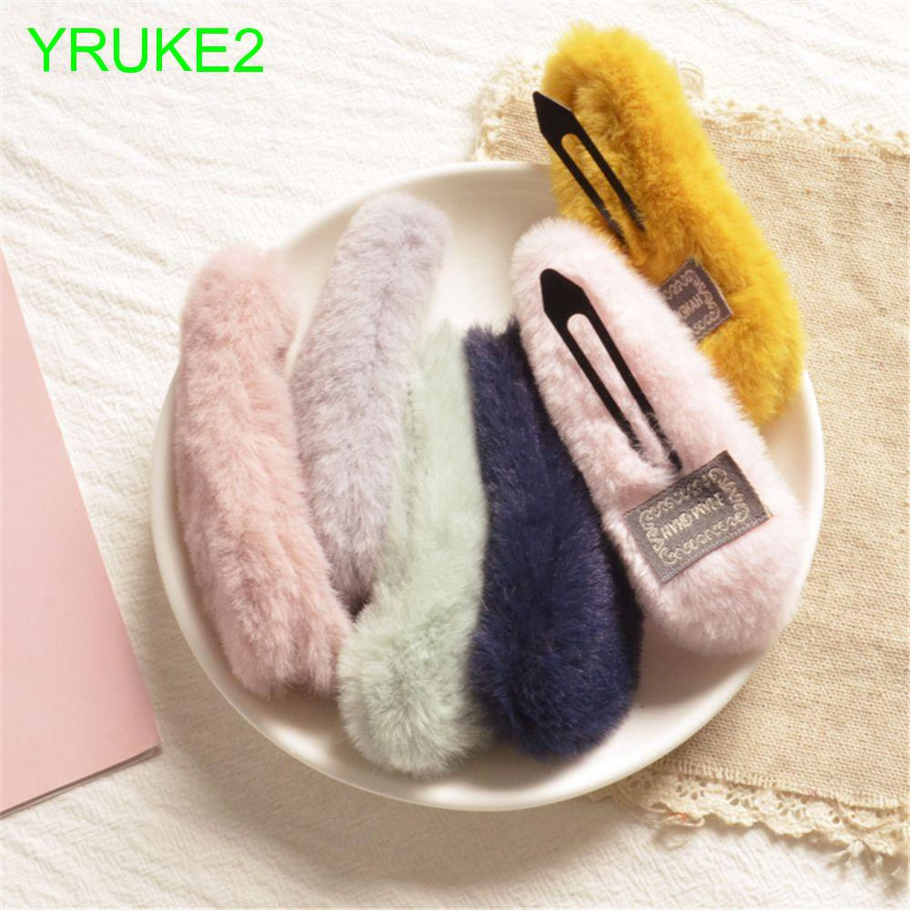 Children Korea Kids Solid Color for Girls Plush Hair Accessories