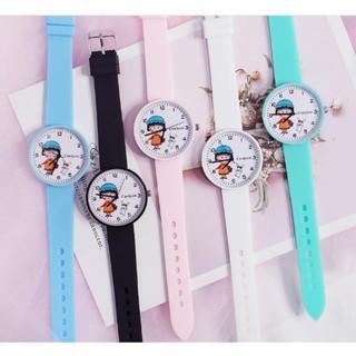 ( Giá Sỉ ) Đồng hồ thời trang nữ Candycat Maruko dây silicon nhiều màu cá tính CS1596