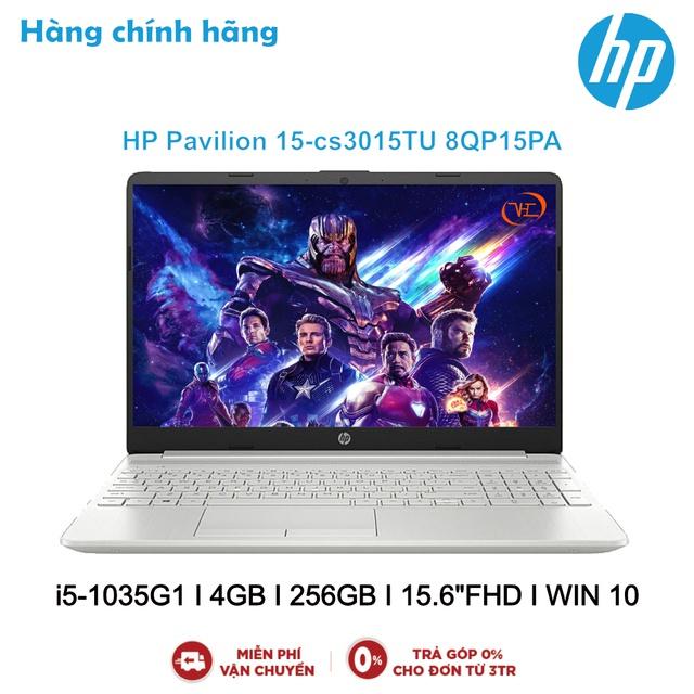 "Laptop HP Pavilion 15-cs3015TU 8QP15PA Xám i5-1035G1 I 4GB I 256GB I 15.6""FHD I WIN 10"