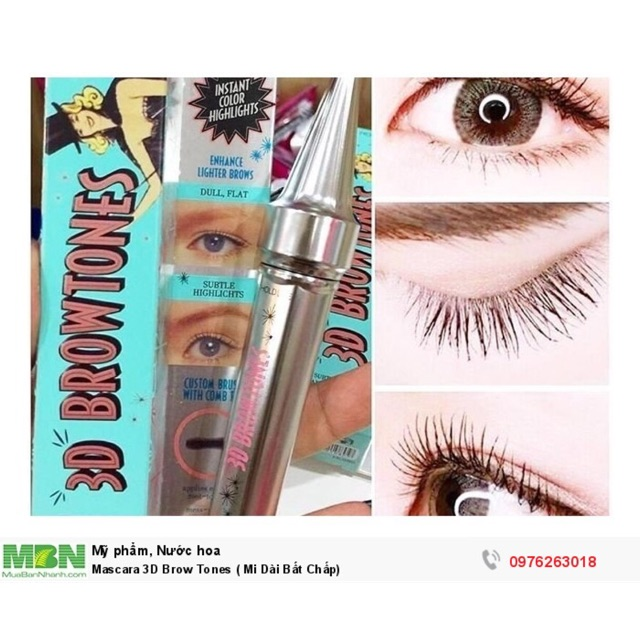 70bf1104189 Mascara 3D Brow Tones mi cong vuốt | Shopee Việt Nam