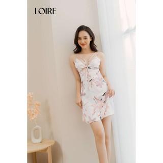 [Mã WABRLRC1 giảm 10% đơn 99K] Váy Ngủ Lụa Hoa Dây Mảnh Cách Điệu Loirechic LSL09 thumbnail