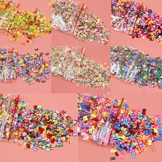 Magicalhour 1000Pcs Plasticine addition soft ceramic nail jewelry mobile slime diy supplies