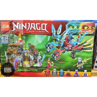 Lego JLB Lắp Ráp Robot Ninja Rồng 2 Đầu & Nhà NinjaGo ( 721 Mảnh )