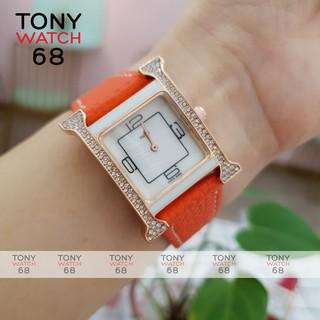 Đồng hồ nữ Winsley chữ H đẹp chính hãng dây da chống nước thumbnail