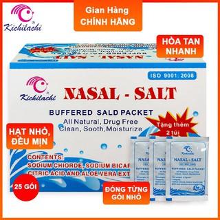 Muối Rửa Mũi Kichilachi, Hộp 27 Gói, Vệ Sinh Mũi Cho Bé, Bảo Vệ Khoang Mũi thumbnail