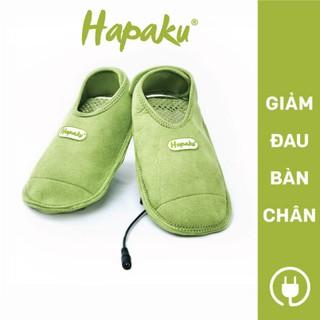Giày chườm nóng Hapaku giảm đau bàn chân, giảm tê lạnh, giúp ngủ ngon – Làm nóng bằng điện