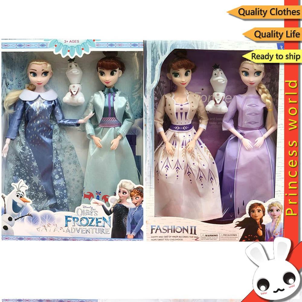 Búp bê nhồi bông hình công chúa Anna Elsa Olaf phim Frozen 2