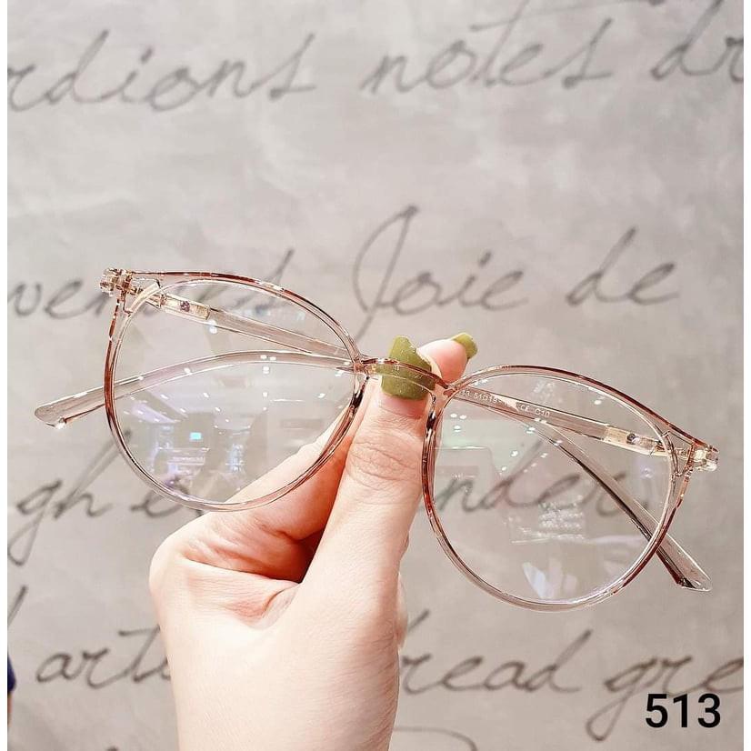 Siêu Sale Kính cận Gọng kính cận thời trang nam nữ mắt tròn 513