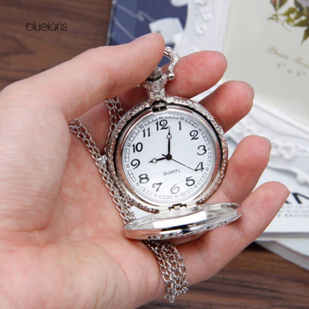 Đồng hồ quả quýt hợp kim hình tảu lửa độc đáo