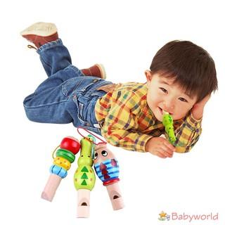 Sáo gỗ đồ chơi hình các con vật đáng yêu dành cho các bé