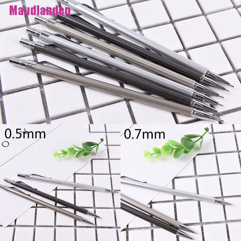 Bút chì bấm vỏ kim loại đầu ngòi 0.5 / 0.7mm chất lượng cao