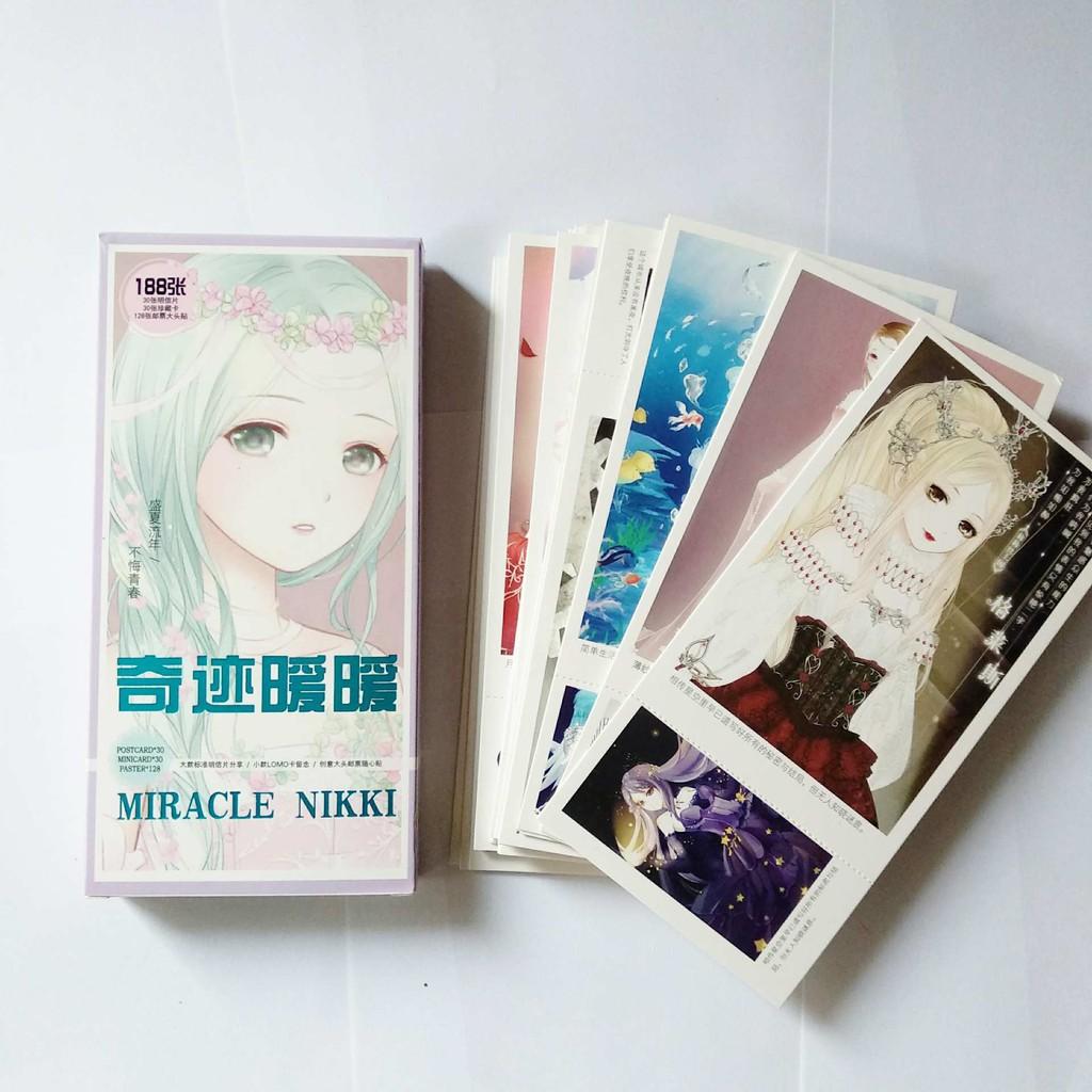 Bộ share postcard Miracle Nikki 188 tấm