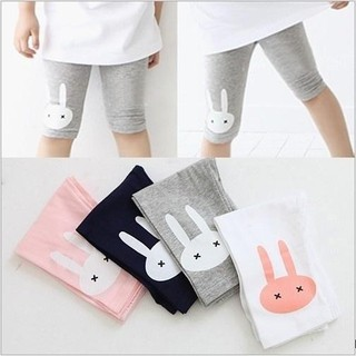Quần legging lửng họa tiết chú thỏ xinh xắn dành cho bé gái quần legging cho bé bộ dài tay bé gái bộ đồ cho bé áo bé gái