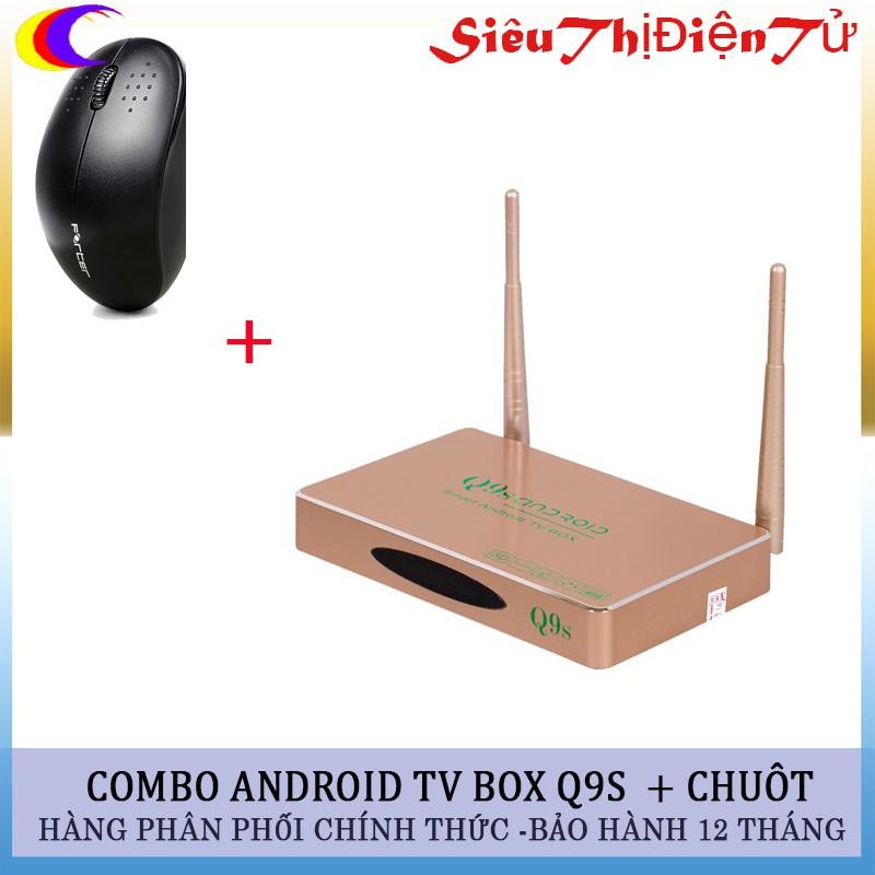 Combo đầu thu Androi TV box Q9s + chuột V181