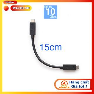 Cáp USB Type C Male to USB Type C Male Gen 2 – 15cm Tốc độ 10Gbps