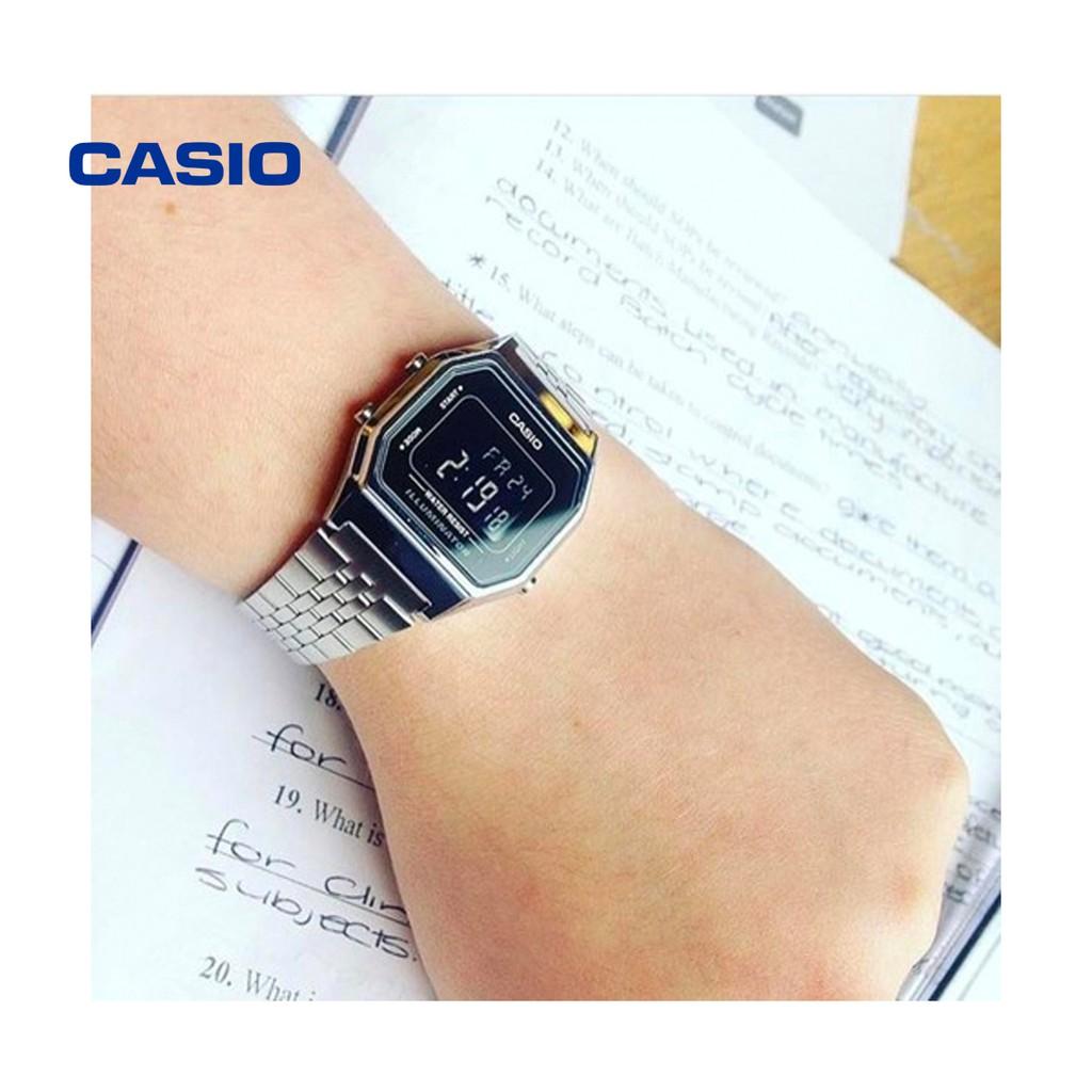 Đồng hồ nữ Casio LA680WA-1BDF chính hãng - Bảo hành 1 năm, Thay pin miễn phí