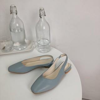 Giày công sở nữ mẫu mới 2019 đế bệt Xanh dương - Sunnie Shoes thumbnail