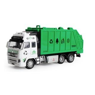 Mô hình xe ô tô chở rác đồ chơi trẻ em tỉ lệ 1:38 chạy cót