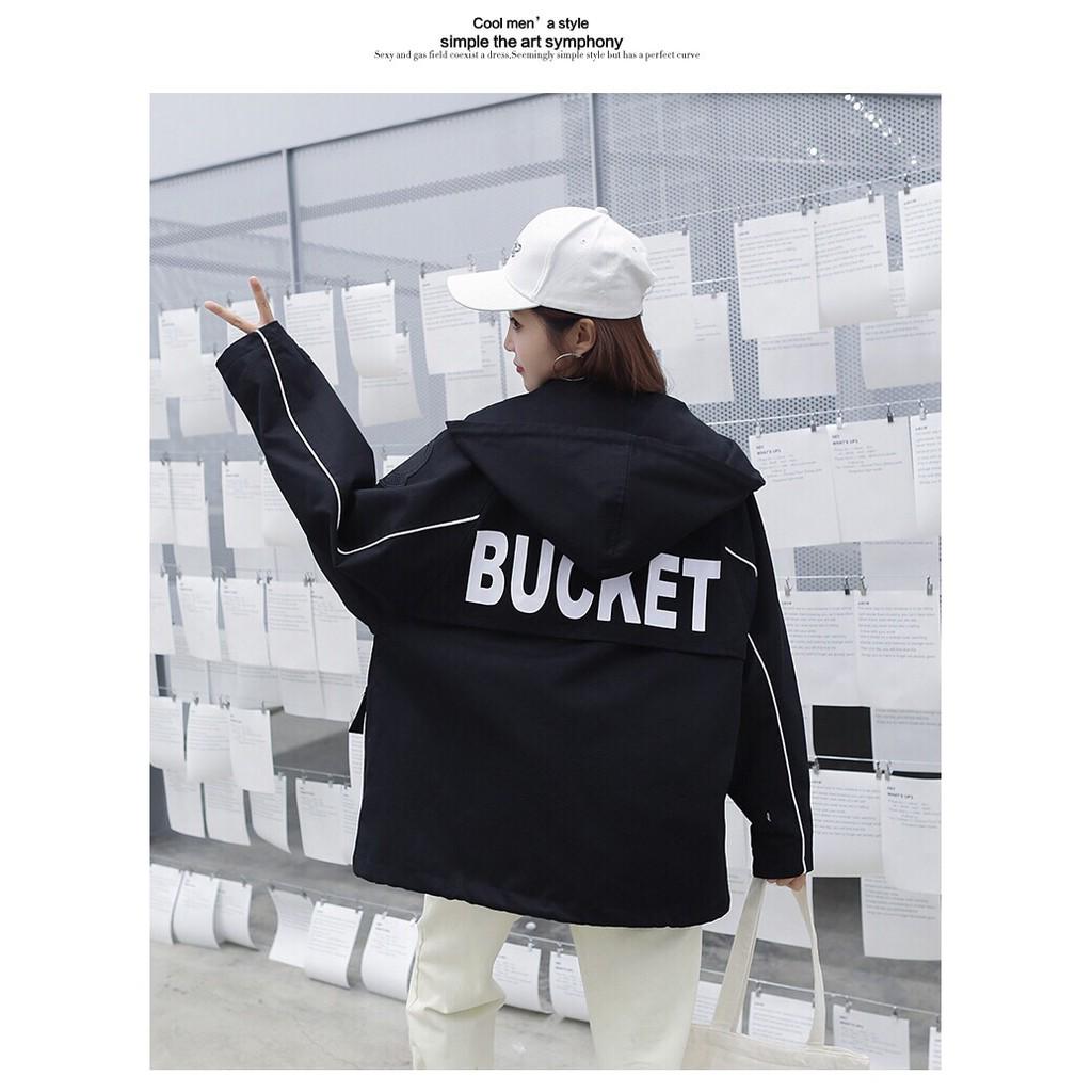 [Mã 1010FASHIONSALE18079 giảm 10K đơn 50K] áo khoác nữ form rộng bucket