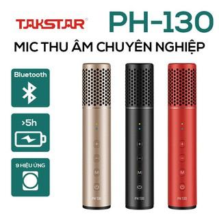 【Chính hãng】Mic thu âm đa năng chuyên nghiệp Takstar PH-130 hát karaoke, livestream, thu âm di động không cần Sound Card