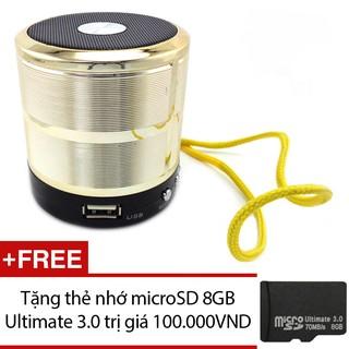 Loa Bluetooth USB thẻ nhớ WS-887 (Bạc) + thẻ nhớ microSD 8GB thumbnail