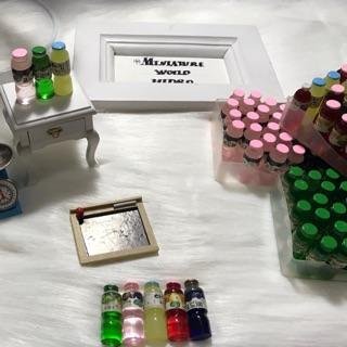 Set 5 chai nước trái cây Hàn Quốc, mô hình chai nước trái cây, chai nước trái cây mini, đồ chơi chai nước trái cây