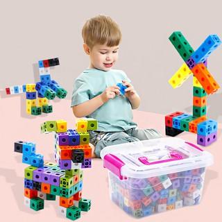 #玩玩幼幼积积块Assembled plastic squares 1-3-6 years old 4 boys and girls baby puzzles