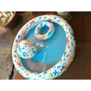 Bể bơi cho bé tặng kèm phao bơi và bóng