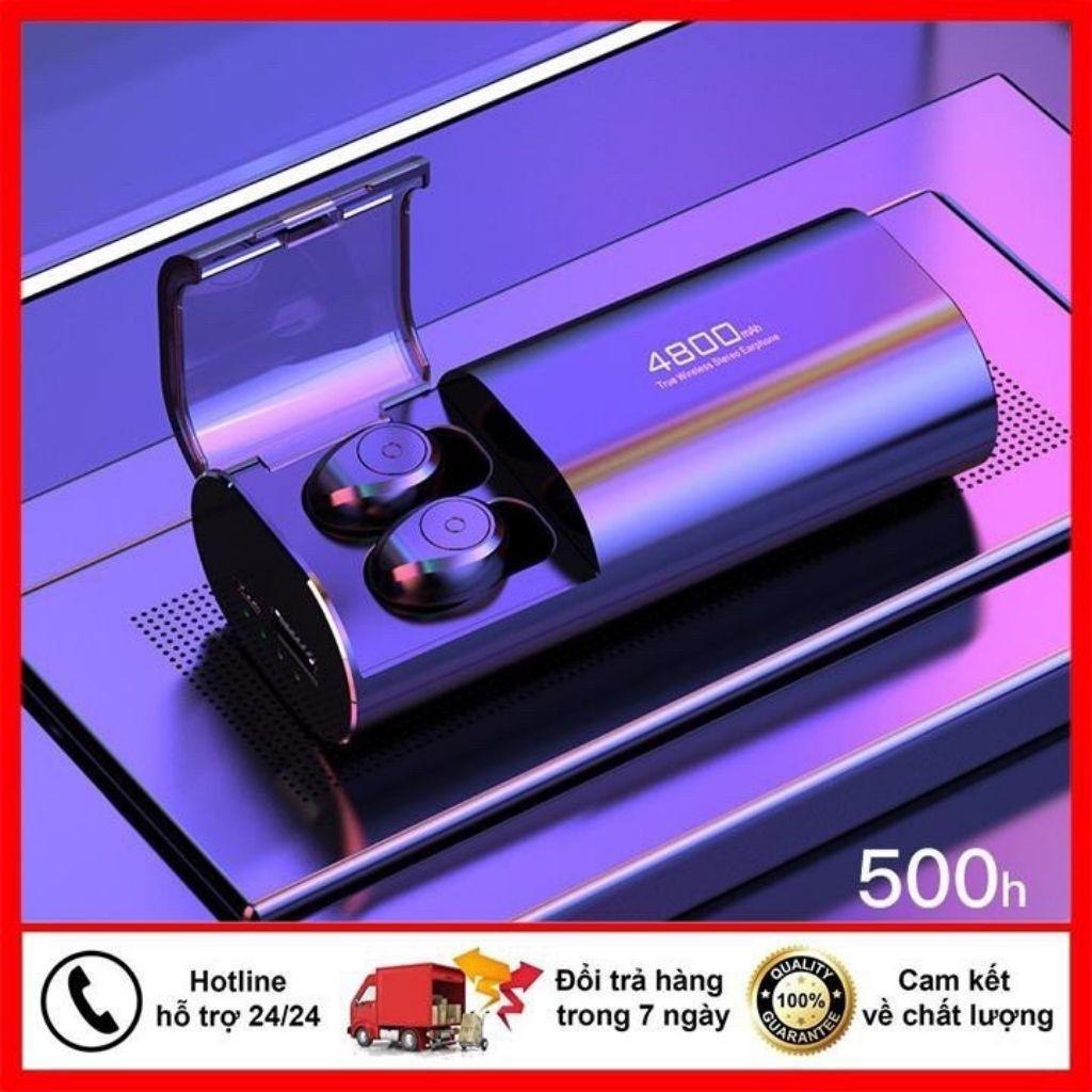 Tai Nghe Bluetooth kiêm sạc dự phòng 4800 mAh cho điện thoại - Tai Nghe Không Dây Amoi F9 S11 - Tai Nghe Amoi F9 S11