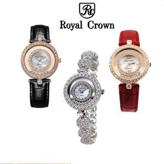 Bộ sưu tập 02 Đồng Hồ Nữ Chính Hãng Royal Crown 5308J và 3628ST-RG (dây da vỏ vàng hồng) thumbnail