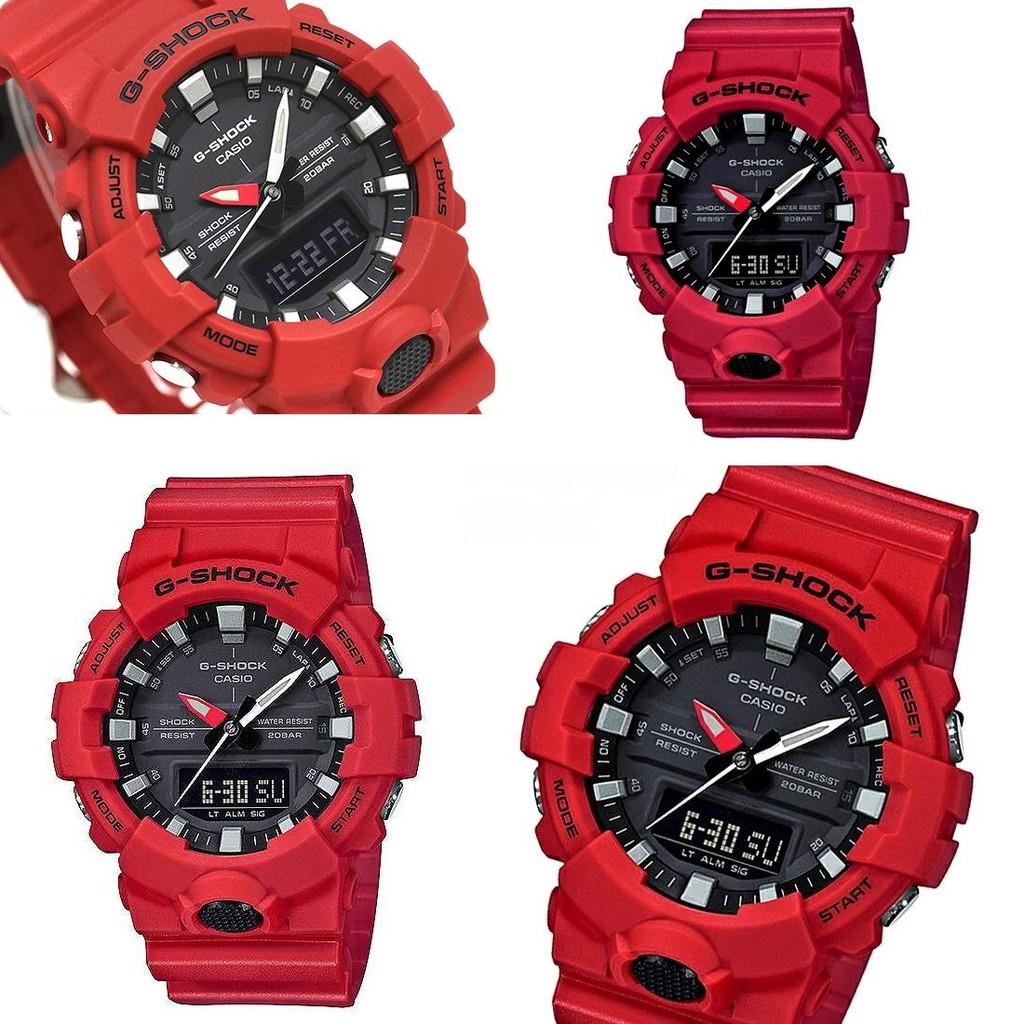 Đồng hồ nam Casio G-Shock GA-800-4ADR & GA-800-1ADR chính hãng - Mặt Đen Dây Đỏ