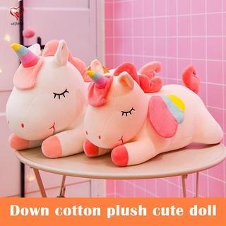 Unicorns Plush Toy Stuffed Doll with Rainbow Wing Birthday Gift for Children Girl Boys
